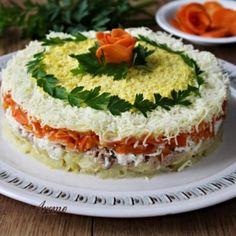 Salată Mimoza cu ton și legume - Lecturi si Arome Avocado Toast, Feta, Cheese, Breakfast, Foods, Morning Coffee, Food Food, Food Items