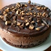 Chocolate Peanut Butter Cup Ice Cream Cake by Eggs on Sunday