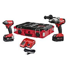 Milwaukee Fuel Lithium-Ion Cordless Brushless Hammer Drill/Impact Driver Combo Kit with Packout Case Cordless Hammer Drill, Cordless Tools, Milwaukee Tools, Milwaukee M18, Driver Tool, Drill Driver, Cordless Circular Saw, Pipe Sizes