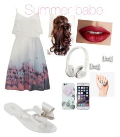 Sorry I am a summer girl by mexantus on Polyvore featuring Vero Moda, Melissa, Marc by Marc Jacobs, Beats by Dr. Dre and TheBalm