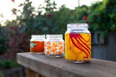 Food Jar Projects: Fabric Tea Lights
