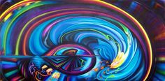 "Saatchi Online Artist Evie Zimmer; Painting, ""Joule"" #art  , Oil on Canvas, 48"" x 96"", 2013"