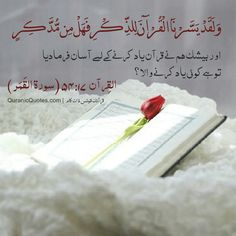 The Quran (Surah al-Qamar) اور بیشک ہم نے قرآن یاد کرنے کے لیے آسان فرمادیا تو ہے کوئی یاد کرنے والا ؟ And We have certainly made the Quran easy for remembrance, so is there any who will remember? Hadith Quotes, Muslim Quotes, Quran Quotes, Islamic Images, Islamic Pictures, Allah Islam, Islam Quran, Islamic Inspirational Quotes, Islamic Quotes