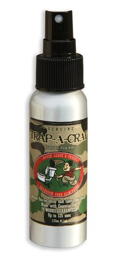 Trap-A-Crap Before-You-Go Bathroom Spray    Never leave a trail    Order Online at www.POOPOURRI.com