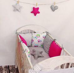 Baby Bettwäsche Design8 Nestchen Bettset 100x135 für Babybett Decke Kissen Bettumrandung: Amazon.de: Baby