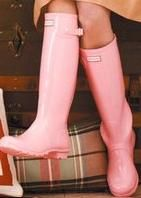 April showers....Rain boots. so cute, love the baby pink color