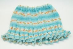 Hand Knit Floral Skirt For Baby Girls From Stitches In Time on Etsy. $29