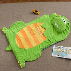 $69.95 Personalized Kids Sleeping Bag Nap Mat - Dinosaur - 12798