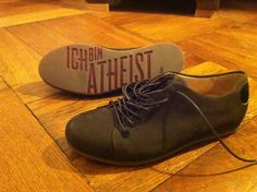 Atheists have soles too!  Startup website - it's really amazing.... love the philosophy.