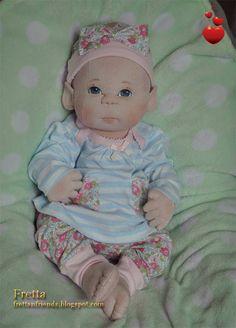Fretta's Newborn Baby Doll. Weighted Empathy Baby.