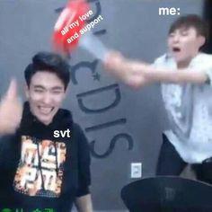 New Memes Kpop Seventeen Ideas Diecisiete Memes, Funny Kpop Memes, New Memes, Woozi, Jeonghan, Meme Faces, Funny Faces, K Pop, Day6 Sungjin