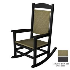POLYWOOD�Black Plastic Outdoor Rocking Chair