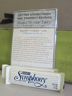 Let the words of the prophets become music to our ears.... great for a FHE lesson since Oct conference is coming up soon