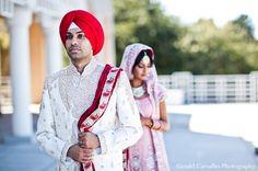 indian wedding bride and groom outdoor portraits http://maharaniweddings.com/gallery/photo/7851