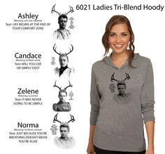 6021 Ladies Tri-Blend Hoodie - Heather Grey - $40
