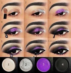 20 Fashionable Smoky Purple Eye Makeup Tutorials for All Occasions Halloween makeup? The post 20 Fashionable Smoky Purple Eye Makeup Tutorials for All Occasions appeared first on Do It Yourself Fashion. Purple Smokey Eye, Purple Eye Makeup, Purple Eyeshadow, Smokey Eye Makeup, Mac Eyeshadow, Eyeshadows, Lipstick Mac, Black Smokey, Eyeshadow Palette