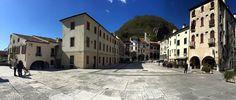 Piazza Flaminio a Serravalle di Vittorio Veneto