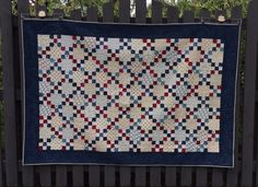 What a great way to use up blue and red scraps   Katyquilts