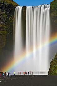 Skogafoss Waterfall-Skogar- y Beautiful World, Beautiful Places, Beautiful Pictures, Places Around The World, Around The Worlds, Beautiful Waterfalls, Belle Photo, Amazing Nature, Wonders Of The World