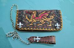 Wallet SOLD Welsh Dragon/Fleur de lis