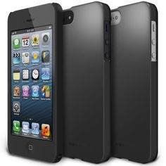 SF Matte Black – Apple iPhone 5 Ringke SLIM Soft Feeling Premium Hard Case AT