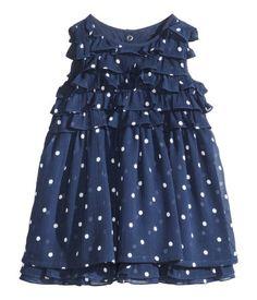 Polka dot navy dress | H&M Kids