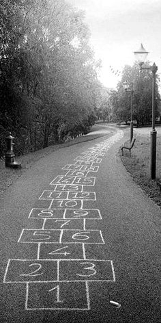Hopscotch 2 infinity... Once upon a time, a stick of chalk and a stone was all that was needed to keep children amused for hours on end. How times have changed! S)