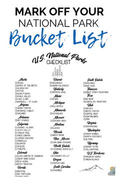 wanderlust adventure Get your free printable list of U. National Parks by state and mark off how many youve visited. Plus start deciding which ones its time for an adventure road trip to go experience hiking trails, waterfalls and more outdoor beauty. Oh The Places You'll Go, Places To Travel, Us Travel Destinations, Camping Places, Minneapolis, List Of National Parks, Florida National Parks, Alaska National Parks, Belfast