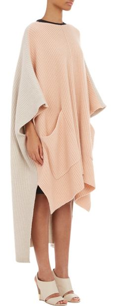 Chloé Oversize Colorblock Poncho at Barneys.com