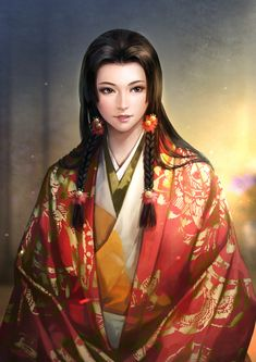 View an image titled 'Kicho Art' in our Nobunaga's Ambition: Sphere of Influence art gallery featuring official character designs, concept art, and promo pictures. Amaterasu, Character Portraits, Character Art, Conan Rpg, Fantasy Characters, Female Characters, Nobunaga's Ambition, Anime Kimono, Samurai Warrior