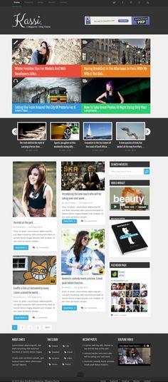 Kassi WordPress Blogging Theme by Experthemes.deviantart.com on @deviantART
