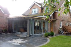 Oak framed garden room extension