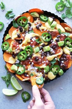 Best ever vegan sweet potato nachos! Simple to make, healthy, perfectly filling & so yum. These are perfect for an easy dinner or appetizer!