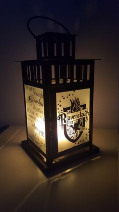 Could totally make this LARGE Harry Potter Inspired Hogwarts Ravenclaw House Lantern, Frosted or Clear Glass by StorybookCraftGroup on Etsy https://www.etsy.com/listing/462577951/large-harry-potter-inspired-hogwarts