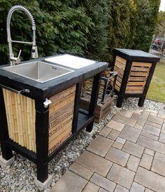 eine kleine outdoor-küche bereichert jede grill-feier ungemein ... - Aussen Küche