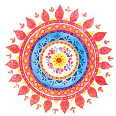 Colorful mandala. If you are interesting in buying an artwork or a t-shirt contact me via e-mail