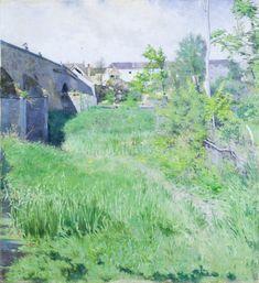 Ponte velha em Grez. 1882. Karl Nordstrom (1855-1923). Encontra-se na Coleção Waldemarsudde. Karl Fredrik Nordström foi um pintor sueco e um dos principais membros da Konstnärsförbundet, que presidiu de 1896 até sua dissolução em 1920.