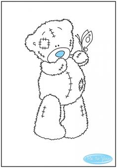 Coloring Pages - Tatty Teddy Bear Tatty Teddy, Colouring Pages, Adult Coloring Pages, Coloring Books, Cartoon Drawings Of Animals, Cartoon Girl Drawing, Bear Drawing, Blue Nose Friends, Tampons