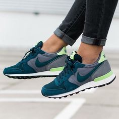 Nike wmns Internationalist: Grey/Petrol Blue