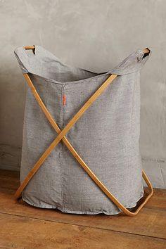 Large Cross-Fold Laundry Basket - anthropologie.com