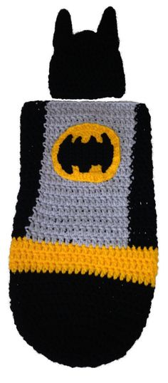 Batman Cocoon by LoopyChains on Etsy, £35.00                                                                                                                                                     More