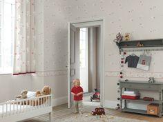 Collection DOUCE NUIT. Enfance, goût, douceur, univers enchanteurs, poétiques, beige, gris, blanc, tissus, papier-peint, rideaux