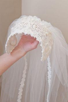 Vintage wedding veil (front)