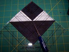 fancy half square triangle