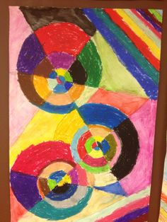 DESSIN d'après l'oeuvre de Sonia Delaunay - pastels gras
