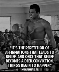 Muhammad Ali on Affirmations