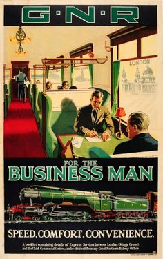 Business Man Great Northern Railway, 1920s - original vintage poster listed on AntikBar.co.uk