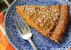 Some good ol' pumpkin pie! The filling is sweetened with dates and thickened with a bit of oat flour. The pecan-date crust is like a sweet, crumbly cookie. Grab a fork and dig in!
