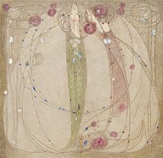 The White Rose and the Red Rose : Vaughan Art-Works, Mackintosh gesso panels, cards and prints