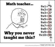 Math teacher…